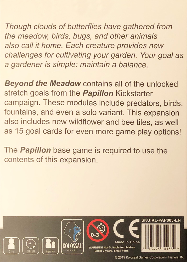 Papillon: Beyond the Meadow